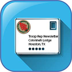 Troop rep newsletter icon